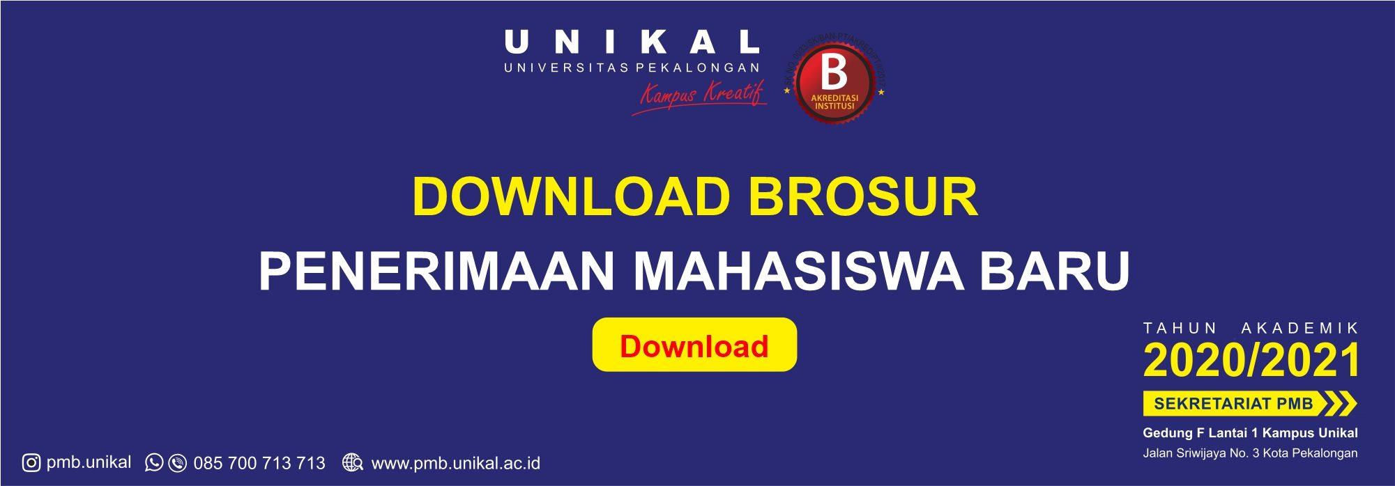 Download Brosur PMB Unikal 2020